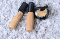 Foundation and cosmetic powder. Set Royalty Free Stock Photo