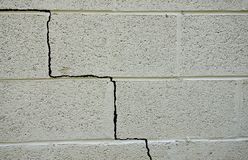 Foundation crack Stock Images