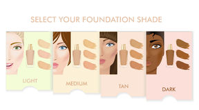 Foundation cream colors set Stock Image