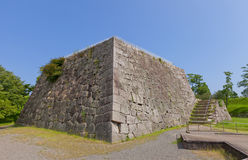 Foundation of donjon of Ako Castle, Ako town, Japan Stock Images