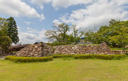 Foundation of donjon of Tanabe Castle in Maizuru, Japan Stock Image