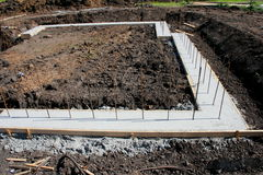 Foundation footing Stock Images