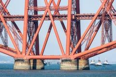 Foundation Forth Railway Bridge Near Queensferry In Scotland Royalty Free Stock Image
