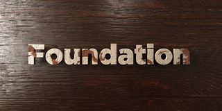 Foundation - grungy wooden headline on Maple  - 3D rendered royalty free stock image. This image can be used for an online website banner ad or a print Stock Photography