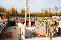 Foundation for a high rise. Stock Photos