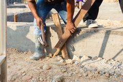 Foundation for house building Royalty Free Stock Images