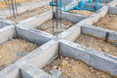 Foundation for house building Stock Image
