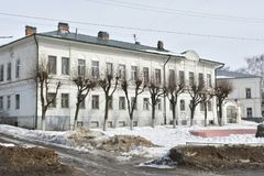 The Foundation of the house is a two volume, built in the third quarter of the nineteenth century and not later than the last. Russia Kostroma city The Royalty Free Stock Image