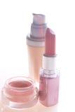 Foundation, lipstick and blush Stock Photo