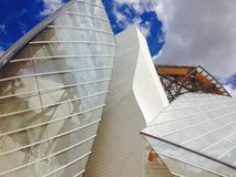 Foundation Louis Vuitton in Paris France Royalty Free Stock Photo