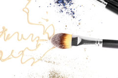 Foundation makeup over white Royalty Free Stock Photos
