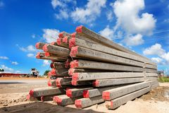 Foundation pile Royalty Free Stock Photos
