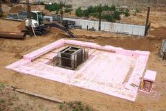 Foundation pit Stock Photography