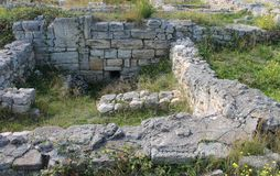 Foundation and remains of the old city Royalty Free Stock Photography