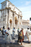 Foundation of Rome. Romaia - Rome celebrates its foundation, April 2009: men wearing ancient roman  costume Royalty Free Stock Photos