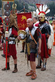 Foundation of Rome. Romaia - Rome celebrates its foundation, April 2009: men marcing in ancient roman  costume Stock Images