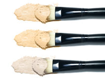 Foundation samples and brushes Stock Images