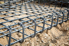 Foundation steel for home building Stock Image