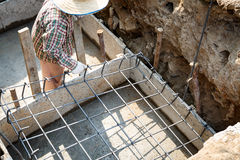 Foundation steel for home building Stock Images