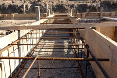 Foundation steel reinforcement stock photography