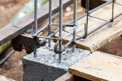 Foundation steel rod for house building Stock Photos