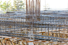 Foundation steel rod for house building Royalty Free Stock Photo