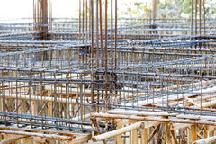 Foundation steel rod for house building Royalty Free Stock Photos