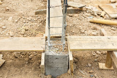 Foundation steel rod for house building Stock Photography