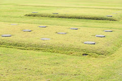 Foundation stones of temple Royalty Free Stock Image