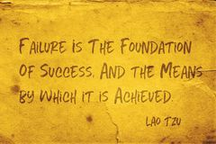 Foundation of success Lao Tzu royalty free stock photography