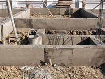 Foundation under construction Royalty Free Stock Photo