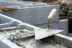 Foundation Wall Construction Stock Image