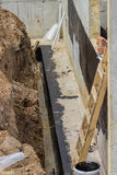 Foundation waterproofing, vapor barrier Stock Images