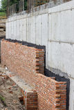 Foundation waterproofing, vapor barrier 2 Stock Photos