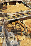 Construction Site - Foundations. Foundations stage at a large-scale construction site Royalty Free Stock Photography