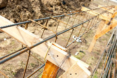 Foundations steel structure Royalty Free Stock Images