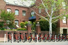 Exercise and transport in Alexandria, Virginia Stock Images