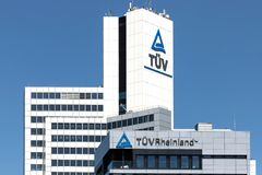 Headquarters of TÜV Rheinland in Cologne, Germany. Founded in 1872, TÜV Rheinland is one of the world's leading testing service providers Royalty Free Stock Photos