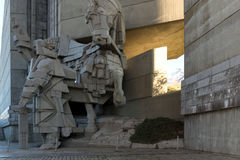 Founders of the Bulgarian State Monument near Town of Shumen, Bulgaria Stock Photo