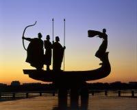 Founders of Kiev monument against sky Stock Image