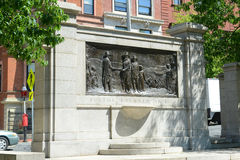 Founders Memorial on the Common in Boston, USA Stock Image