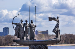 Founders Monument Dniper River Kiev Symbol Ukraine Royalty Free Stock Photography