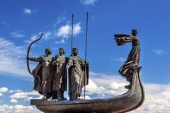 Founders Monument Dniper River Kiev Symbol Ukraine Stock Image
