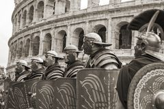 The founding of Rome: parade through the streets of Rome