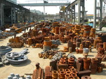 Foundry. Manufacture with metal in summer Stock Image