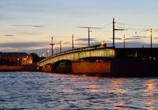Foundry Bridge at night. Stock Photo