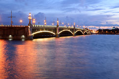 Foundry Bridge at night. Royalty Free Stock Image