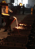 Foundry or casting. A view of foundry or casting  process  in a automobile manufacturing unit Stock Photo