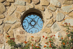 Foundry Window at Lighthouse in Cabo de Palos Royalty Free Stock Photography