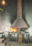 Foundry Workshop. Old foundry workshop in mining factory Royalty Free Stock Images